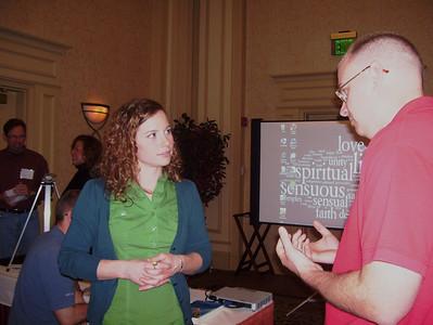 K.C. McCurren, ED of EarthCraft Virginia based in Richmond, VA talks with Jacob Koch (Alexandria, VA. bb