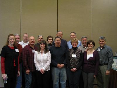 09 01-17 Ten Disaster ReBuilders volunteers have photo-op with Millard and Linda Fuller.  lcf