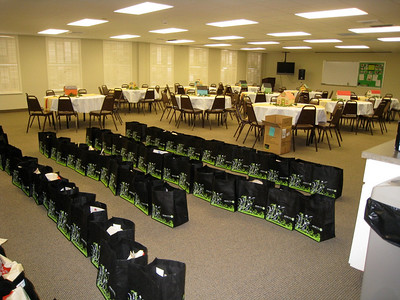 10 01-15  Room set up for lunch and gift bag are ready.  Kelli Yoder