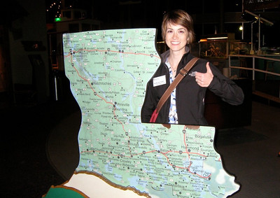 10 01-15  Katherine Stump can prove that all roads lead to Shreveport.  Kelli Yoder