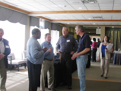 2011 03-18/19   George Foree, Rue McFarland, Gene Dyson of FC Louisville, KY talking with John Schaub, FCH board member.   Photos courtesy of Brenda Barton