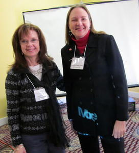 Lynn Bryan and Shelley Ryan Gray of Community Renewal.