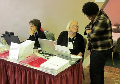 Cathy Smith, Brenda Barton and Beverly Black.