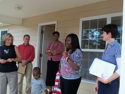 Reshyra Walker thanks the many people who helped make her new home possible.