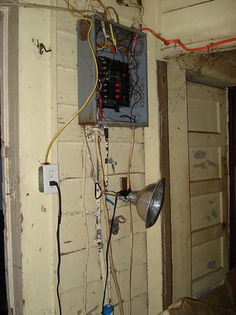 Electric box in storage area. ck