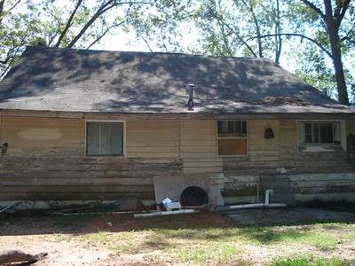 "A ""before"" shot of back of house. ck"