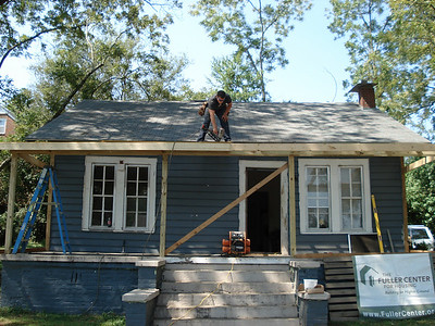 Day 4 - Shingles going on. ck