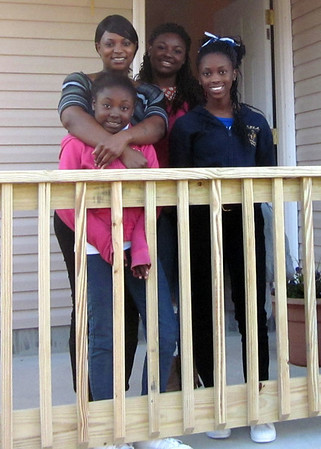 Alethia Starling and her daughters (from left) JaQuaivia, LaParis and Tamara.