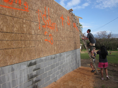 The Fuller Center's Southwest Quarter covenant partner in Lumpkin, Ga., is building a new home with a big help from Crossroads Ministry, which donated the walls that were put together by First Baptist Church of Newnan before construction began.