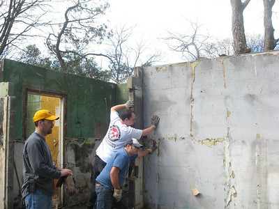 10  03-13 Demolition of some walls.  Shane Persaud