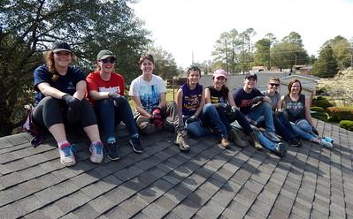 From left are Wittenberg University students Rachel Jouriles, Kamilla Jensen, Becky Schmitthenner, Kenzie Hill, Jenn Downing, Matt Brown, Anna Gutride and Emma Shehy.