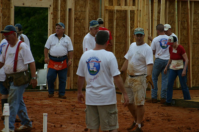 06 09 Allendale - Day 1 of Linda & Millard Fuller Blitz Build. Mud, mud and more mud due to heavy rainfall the night before didn't dampen spirits. Lynda Spofford