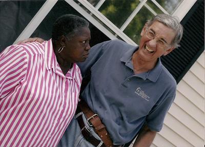 "06 09 Millard & Linda Fuller Blitz Build House Dedication - ""Celeste, you don't have to take this house."" 05 12  dw"