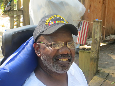 Disabled Vietnam veteran Sherman Stevens' home was repaired and refitted for his wheelchair by the Tallahassee Fuller Center for Housing.