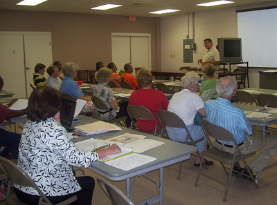 08 07-15 Yalobusha Co., MS - Community meeting where Glen Barton is explaining how a Fuller Center can work in their area. gb