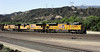 Union Pacific 8706, 5059 & 6603, Cajon, California, Mon 29 April 2013 - 0929.  The UP train climbs east on BNSF's Main 1.  8706 is an EMD SD70ACe, 5059 is an EMD SD70M and 6603 is a GE AC4400CW.