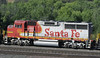 BNSF 135, Cajon, California, Tues 30 April 2013 - 0847.  A closer look at the EMD GP60M, still wearing its ATSF warbonnet.