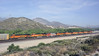 BNSF 7754, 7702, 7770, 7731, 7768, 6995, 135, 7762 & 6682, Cajon, California, Tues 30 April 2013 2 - 0847.  Another look at this impressive lash-up.