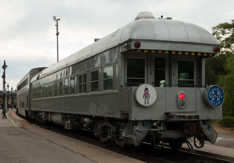 San Luis Obispo, California, Sat 30 September 2006 13.  Preserved ATSF business car 37 Chico, showing the Chico and Extra Fare drumheads.  The car was built by Pullman in 1925 for use by Santa Fe officials.