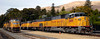 San Luis Obispo, California, Sat 30 September 2006 21 - 1722.  UP 4609 & 4163 arrive light engine from the north and pass stabled UP 2405, 8605 & 3614.