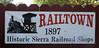 Welcome to Railtown 1897!  California State Railroad Museum, Jamestown, Thurs 20 October 2011.