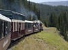 Leadville, Colorado & Southern No 1714, pushing towards French Gulch, 9 September 2008 - 1403