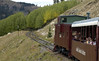 Leadville,Colorado & Southern train, Milepost 140.5, 9 September 2008 - 1418.  This is as far as LCS trains run.  The elevation is about 11,100 feet.  Climax and Fremont Pass are another three miles and 200 feet further.  The caboose has led the train from Leadville.
