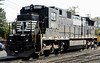 C39-8 No 8211, New Hope, Pennsylvania, Mon 11 October 2010 1.  Still in Norfolk Southern livery, although 'NS' has been daubed over.