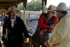 'Wyatt Earp' and would-be train robbers, Sacramento River Train, Woodland, California, Sat 22 October 2011.  The Sacramento River Train's main attraction is a light-hearted re-enactment of the days when the West really was Wild.