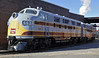 'Delaware, Lackawanna & Western 663 & 664', Steamtown, Scranton, Pennsylvania, Sun 10 October 2010.  EMD 1500hp F3s built in 1948 for the Bangor & Aroostook RR.  At the time of my photo they had just been repainted into DLW 'Grey Ghost' colours.