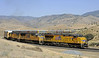Union Pacific 7513, 5208 & 4059, near Caliente, California, Wed 1 May 2013 - 1511.  Here is the train in the previous shot climbing from Caliente to Tunnel 2 and Bealville.