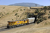 Union Pacific 7972, near Caliente, California, Wed 1 May 2013 - 1516.  The GE C45ACCTE helper enters Tunnel 2 on the rear of the train headed by 7513.