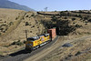 Union Pacific 8820, near Caliente, California, Wed 1 May 2013 - 1622.  The EMD SD70ACE helper on the rear of the train headed by 5447 enters Tunnel 1.