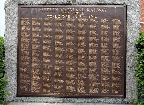 Western Maryland Railway honor roll, Elkins, West Virginia, Thurs 14 October 2010.