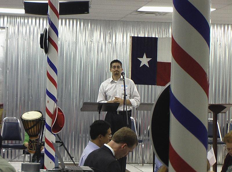 Pastor Jason Paredes from Fielder Road Baptist Church, the MC
