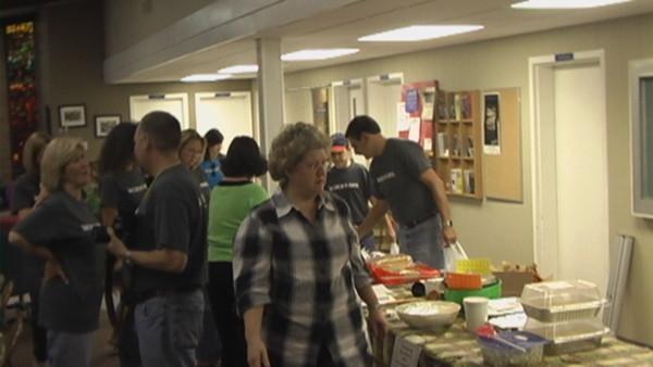 Lots of food... lots of people to help...