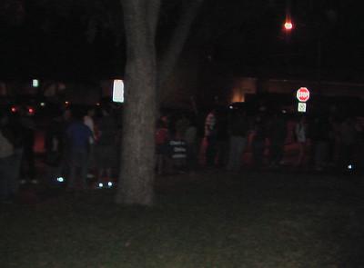 The line went around the block