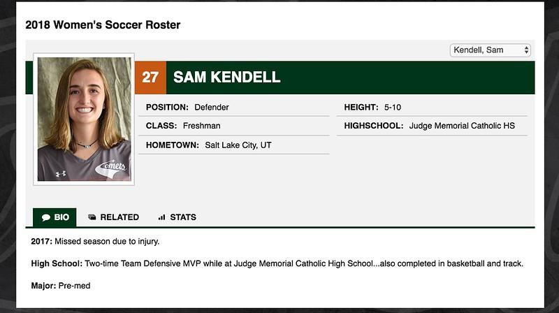 27 Sam Kendell
