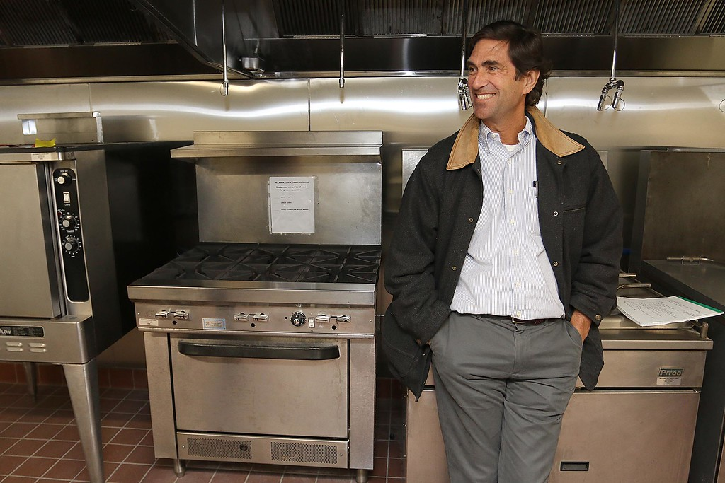 . Ed Frechette the Chief innovation officer at UTEC stands near the stove in their new 5,000 square foot commercial-grade community kitchen in Lowell. SUN/JOHN LOVE