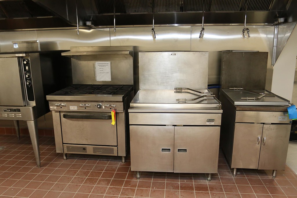. A cooking area  in UTEC\'s new 5,000 square foot commercial-grade community kitchen in Lowell. SUN/JOHN LOVE