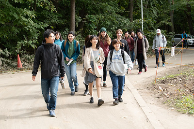 Nature hike on campus