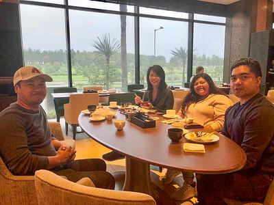 Breakfast as the typhoon rolls in.
