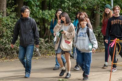 Nature walk on campus