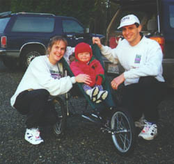 Our family training for the 1999 San Diego Rock 'n Rock Marathon.