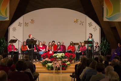 performing at the christmas eve candlelight service