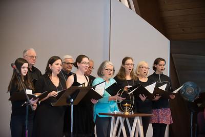 rachel singing with the choir