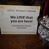 Reception Desk, UUCC Women's Retreat 2015