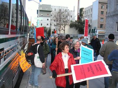 Antiwar March down Market Street
