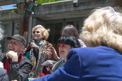 New Member Reception and Farewell Party for the Rev. Stephen Furrer in the courtyard of the First Unitarian Universalist Church of San Franciso.