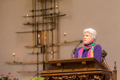 Kathleen Queneville invites the Congregation to the Celebration